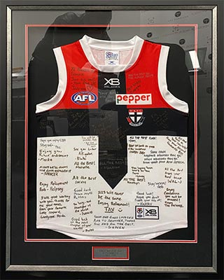 AFL Jersey Framing